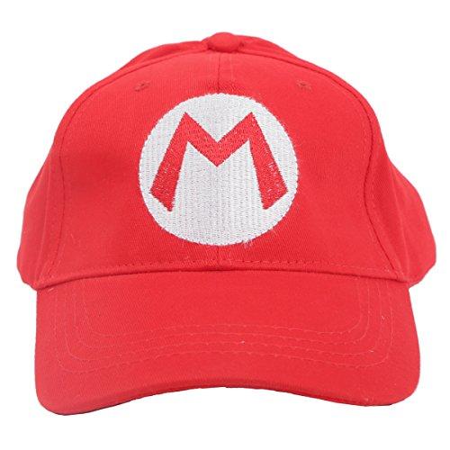 Mario Hut Bros Hat Mario Luigi Sports Baseball Kappe Halloween Cosplay Kostüm Sportbekleidung Rot Grün ()