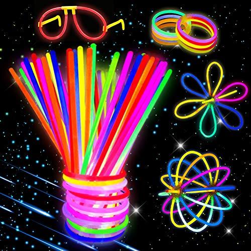 Imagen de kimimara barras luminosas , 100 palos luminosos con conectores para pulseras y pelotas, iluminación para juguetes, ideal para fiestas en la oscuridad ,de 20 centímetros de largo colores mezclados