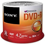 Sony 4.7 GB DVD-R Spindle (Pack of 50)