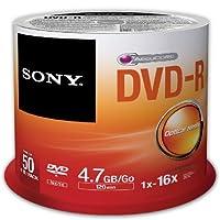 Sony 50DMR47SP 16x DVD-R 4.7GB وسائط DVD قابلة للتسجيل - 50 حزمة