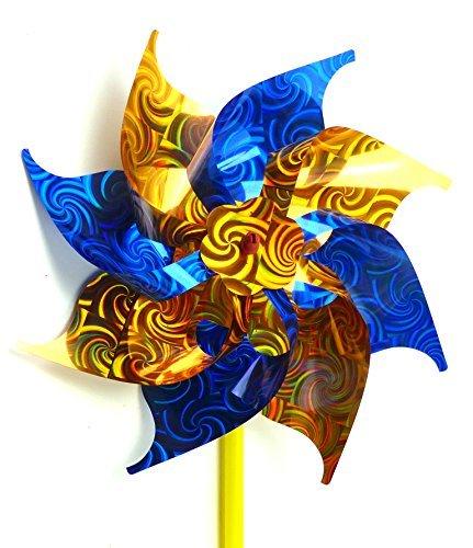 e Wind-Raeder der extra Klasse! viele Modelle im schönem Design (BLAU-GOLD) (Blaue Windräder)