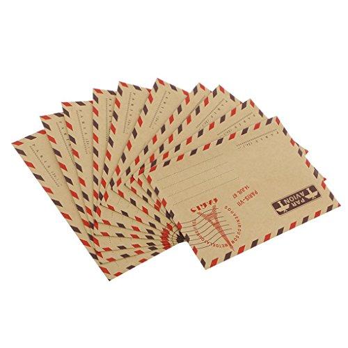 Hotaluyt 40pcs Große Retro Turm Stempel Kraftpapier Umschläge DIY Geschenk für West Postkarte Umschlag Mail Sack Zufall -