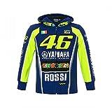 Yamaha Factory Racing Valentino Rossi 462018Vr46Valentino Rossi # 46Sweat à Capuche à Capuche pour Enfant Enfants Garçons DE 1à 8Ans, Bleu, Kids Age 1-2 Years
