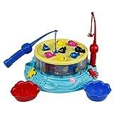 Juego de Pesca Musica Juguete de Pesca con Cañas Pescar Juegos Creativos Juguetes Eléctrico Educativos para Niñas Niños 3 Años - Peces Coloridos