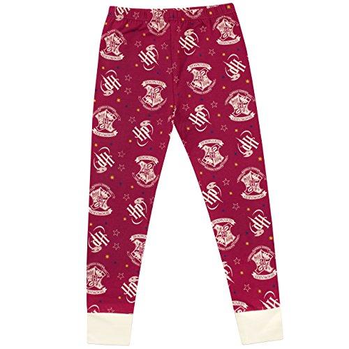 51TLVTvGbNL - Harry Potter Pijama para Niñas Hogwarts Ajuste Ceñido Multicolor 12-13 Años