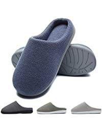 Zapatillas de casa de Hombre, Ultraligero cómodo y Antideslizante, Zapatilla de Estar por casa para Hombre, Azul Marino, EU 42-43 (Longitud 26.5-27CM)