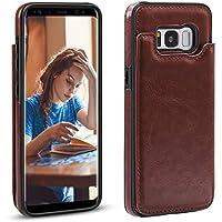 XY-shell Coque Luxe Samsung Galaxy S8 [5.8 Pouce], [Card Slot Series] Cuir en PU Portefeuille Housse Désign Housse Etui Coque de Protection pour Samsung Galaxy S8.[Brun]
