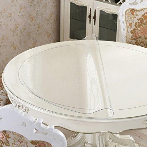 Tischdecke, wasserdicht Crystal Plate Couchtisch Tuch PVC Tischdecke transparent 1,5MM ( größe : Round-150cm )