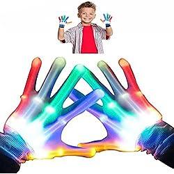 Regalos Cumpleaños Niños 3-12 años, DMbaby Guantes LEDS Colores - Regalos Cumpleaños Niñas G05