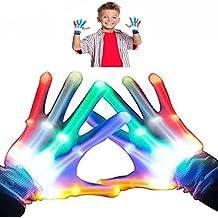 DMbaby Gants LED Lumineux à Doigts Colorés - Meilleurs Cadeaux