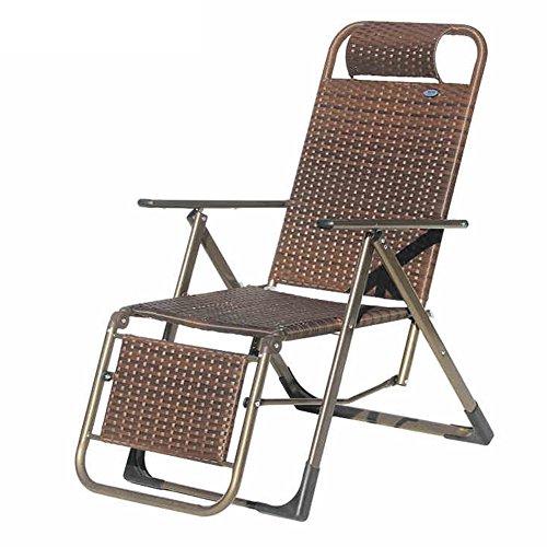 QIDI Chaise Longue Pliable Simple Rotin 48 * 106cm