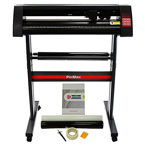 PixMax 720mm Vinyl Schneideplotter Folienplotter Schneideplotter Plotter inklusive 3 x Roland-Messer Schneidezubehör plus Flexi Starter 11 Software