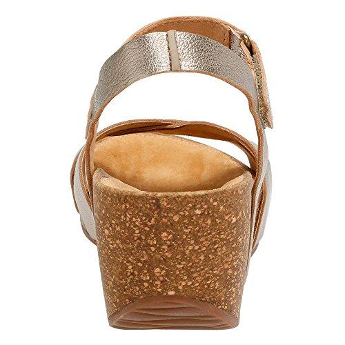 Clarks Temira Compass Sandali con zeppa Gold Metallic Leather