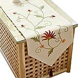 Ethomes Runner per tavolo lino/cotone 40x180cm colori crema