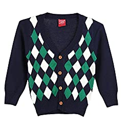 Lilliput Boys Cardigans (8907264047524_Blue_10-11 Years)
