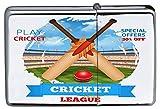 LEotiE SINCE 2004 Chrom Sturm Feuerzeug Benzin Bedruckt Sport Cricket