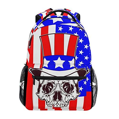 s Uncle Sam Flag USA Student Backpack Big for Girls Kids Elementary Schultasche Shoulder Bag Bookbag ()