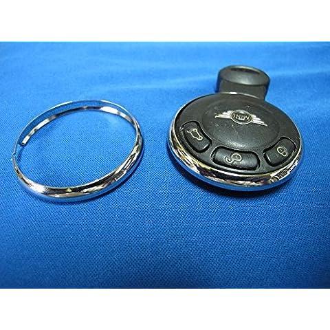 Paragrafo 1, di ricambio, in metallo cromato con anello portachiavi Rim-Cove per R57 S MINI R56 R58 R59 R60 R61