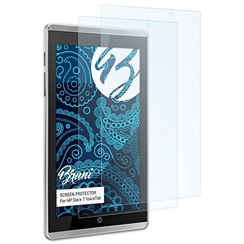 Bruni Schutzfolie für HP Slate 7 VoiceTab Folie, glasklare Bildschirmschutzfolie (2X)