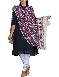 Unnati Silks Women Pink Pure Kalamkari Cotton Dupatta With Floral Kalamkari Prints From The Weavers Of Andhra...