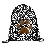 KIMIOE Borse Sacca,Step Sack Bag Large Drawstring Bucket Bag Backpack Sport Bag For Men