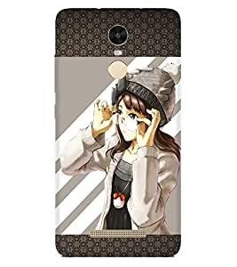 PRINTSWAG GIRL WITH GLASSES Designer Back Cover Case for Xiaomi Redmi Note 3