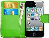 G-Shield iPhone 4 Case, iPhone 4S Case, Leather Wallet Case [Slim Fit] Premium