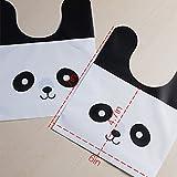 50pcs / lot Mignon Panda en plastique Candy Biscuit emballage emballage cadeau sac cadeau