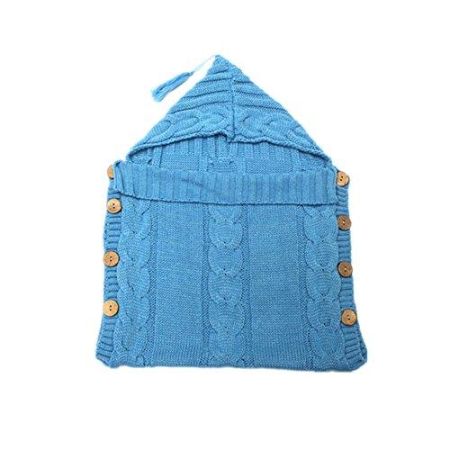 amkun Neugeborene Baby Swaddle Decke Knit Schlafsack schlafen Sack Kinderwagen Wickeln Fotografie Requisiten für Baby