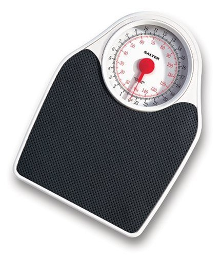 Salter 145 Mechanical Bathroom Scale - Silver Black