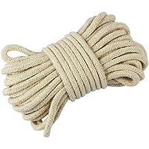 EDGEAM Cordón de Algodón 3 mm Cuerda Trenzada blanco crudo (20 metros)