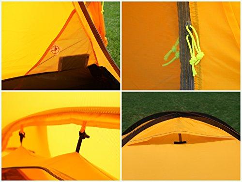 GEERTOP 20D 2-Person 4-Jahreszeiten Super Leicht Alpine Camping-Zelt - 5