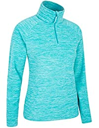 Mountain Warehouse Snowdon Womens Fleece Jacket - Antipill, Lightweight Sweater, Half Zip, Breathable Ladies Coat, Quick Drying - for Walking, Travelling