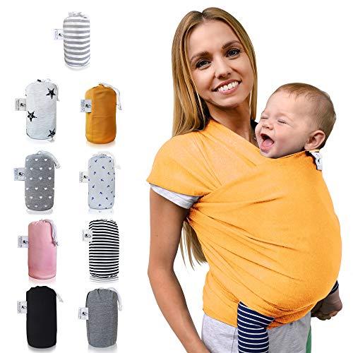 etuch - elastisches Babytragetuch für Früh- und Neugeborene inkl. Baby Wrap Carrier Anleitung (Marigold) ()