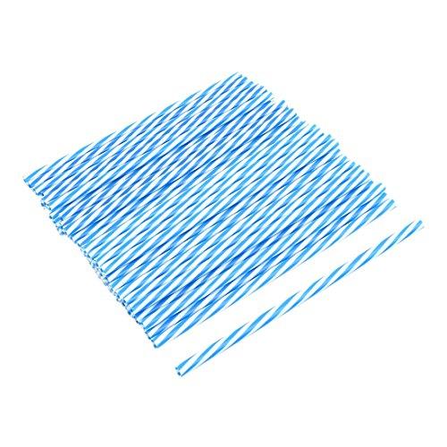 arty PP Diagonal Streifen Muster Einweg Trinkwasser Stroh Blau DE de ()