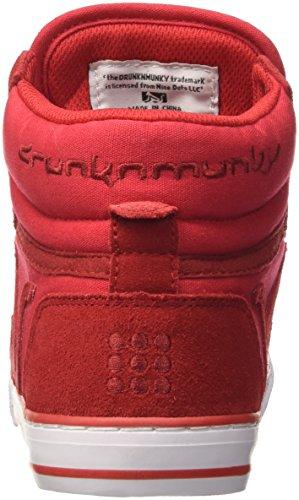DrunknMunky Boston Monocolor, Scarpe da Tennis Uomo Rosso
