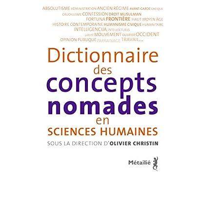Dictionnaire des concepts nomades en sciences humaines