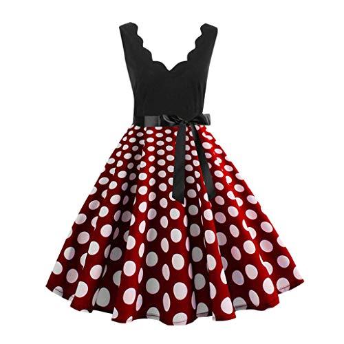 7db995b6c2 BaZhaHei Vestidos de Mujer Falda Vestido Largo con Cuello Redondo y  Estampado de Noche Manga Larga