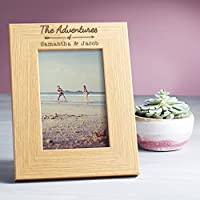 Personalised 'The Adventures of...' Photo Frame / Couples Gifts for Him and Her / 6x4 5x7 8x6 Wooden Picture Frames Available
