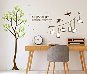 Amazon Brand - Solimo Wall Sticker for Living Room (Memories, Ideal Size on Wall:126 cm x 143 cm)