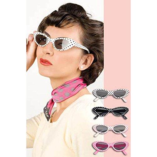 523–Brille Retro–Einheitsgröße verschiedene Farben (50er Jahre Kostüm Für Kinder)