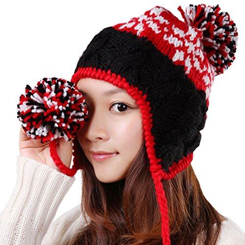 chapeau laine coréen/Bonnet de ski/ Chapeau chaud oreille/ chapeau tricoté E