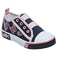 Girls Children Kids Canvas Toddlers Shoes Summer Pumps Casual Infants Trainers Flat Low Top Soft Lightweight Plimsolls Boots Baby Sizes