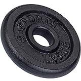 ScSPORTS 1,25 kg Hantelscheibe Guss, Gewicht für Langhantel- und Kurzhantel-Stangen mit 30/31 mm Bohrung, durch Intertek geprüft + bestanden¹