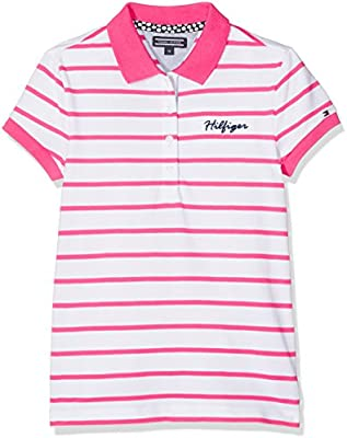 Tommy Hilfiger Ame S Stripe S/S, Polo para Niños