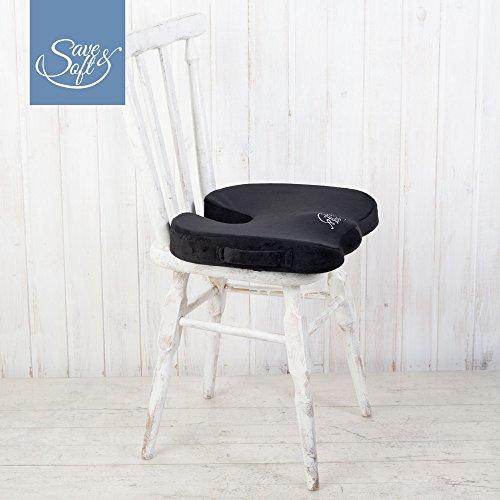 Coj n para asiento de espuma con memoria de save soft for Cojin para silla de oficina