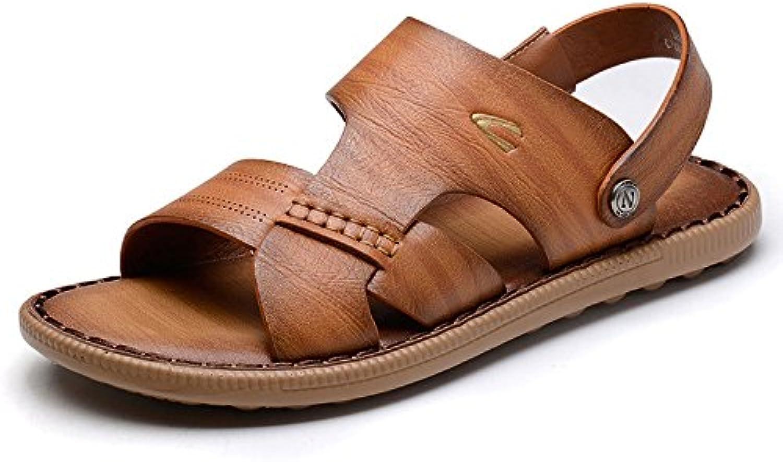 LEDLFIE Herren Sandalen Sommer Hausschuhe Casual Beach Schuhe Im FreienLEDLFIE Herren Sandalen Hausschuhe Brown 42