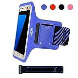 EOTW Brassard Sport pour Samsung Galaxy S7/S6/s6 edge/S5, Brassard téléphone avec espace pour cartes, clés, argent & écouteurs, Bon Maintien pour de Course, Jogging, Vélo, Pêche (Bleu, 5,1 pouce)