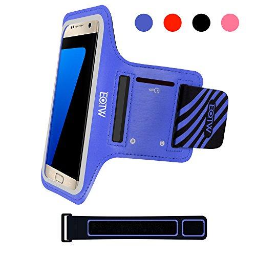 EOTW Sportarmband Handyhülle universell Passend für Samsung Galaxy S7/S6/S5, Ideal für Sport, Freizeit aber Auch in der Arbeit praktisch zu Verwenden (5,1 Zoll, Blau) - Case S3 Galaxy Armee-samsung