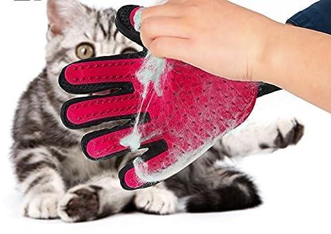 mige Hund Fellpflege Handschuh, Haustier Handschuh, Massage Handschuh, Reinigung Handschuh Fellpflege/Tier Hund Katzen Haar Entferner Bürste Handschuh für lange und kurze Haar/1Paar